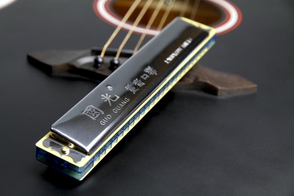 上海国光高级口琴102428孔 重音复音布鲁斯c调 初学专业演奏乐器图片