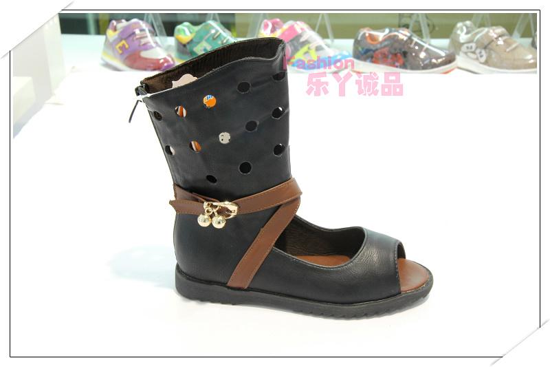 正品奔仔女童鞋时尚单皮半凉靴鱼嘴靴镂空露趾硅橡胶脚垫脚贴系列图片
