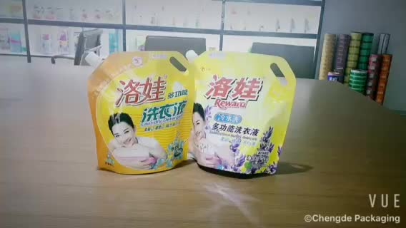 Factory Supply pouch for liquid packaging stand up liquid soap packaging