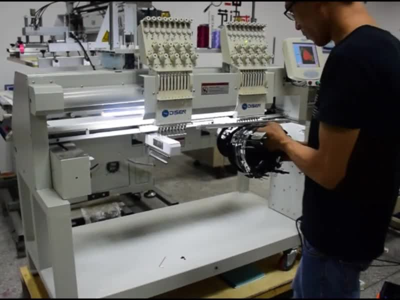Automatic commercial digital domestic china double head computerized cap embroidery machine 2 head with prices
