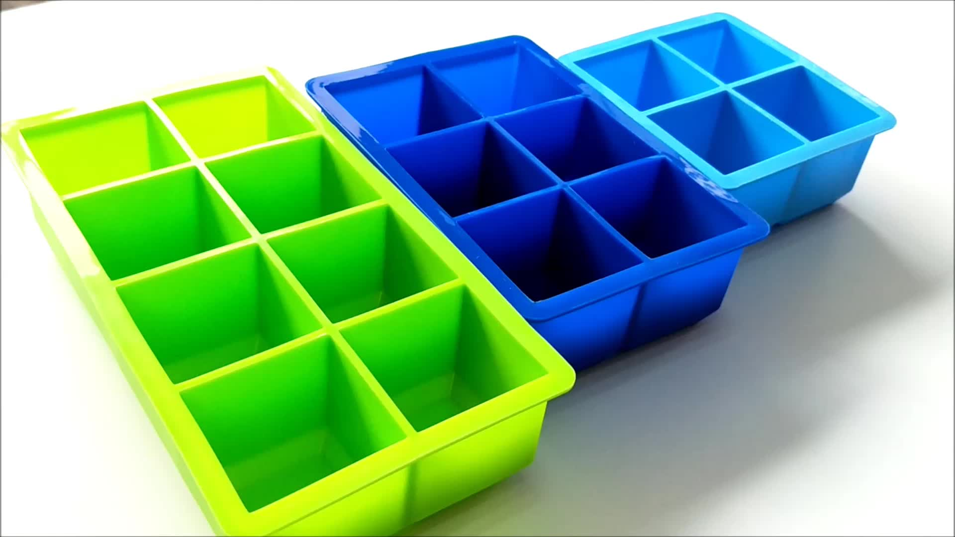 Facile À Utiliser 4 6 8 cavité Platine Personnalisé bac à glaçons, bac à glaçons Personnalisé en silicone