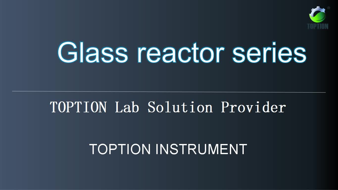 TOPTION customized glass Reactor Body Turnover Reactor with Lift and Flip Device