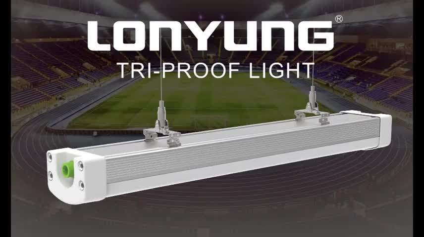 New product on China market  Suspended Design waterproof Lighting Linear  Triproof LED lamp with DLC ETL listed