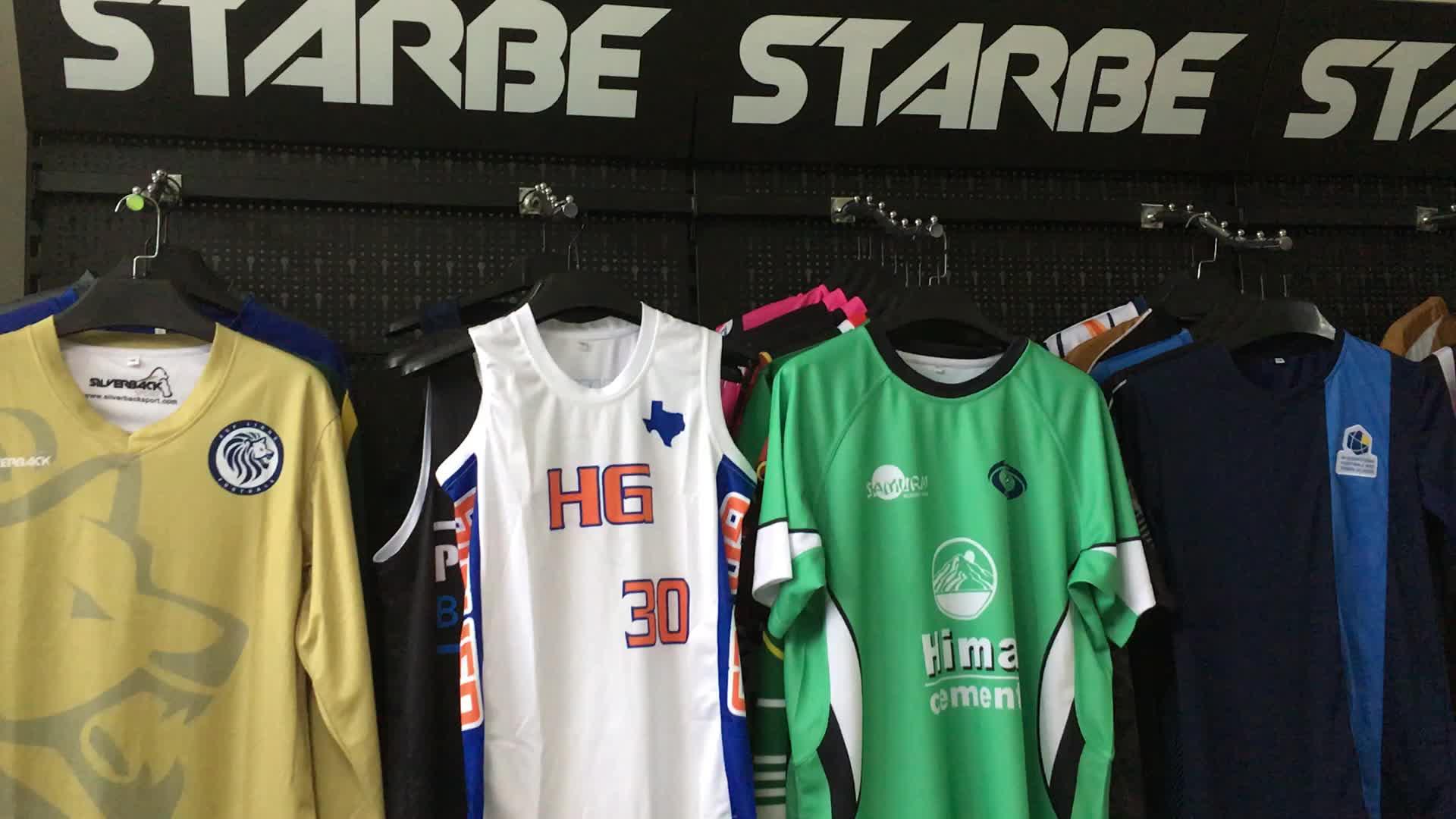 Benutzerdefinierte, trocken sitzende, hochwertige reversible Basketball-Trikots für Herren