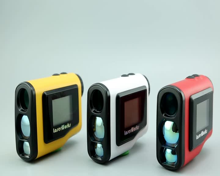 New 4 colors LCD Golf caddy 6x21 600m OEM Laser Golf Rangefinder with Slope and Pinseeker