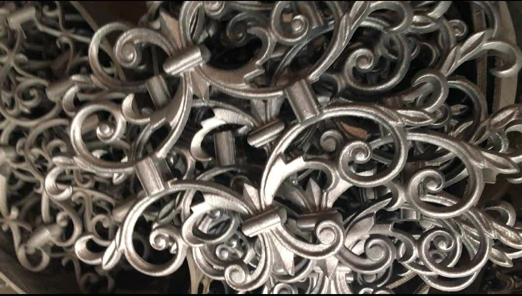 Decorative Ornamental Wrought Casting Iron Fence Flower Ornaments
