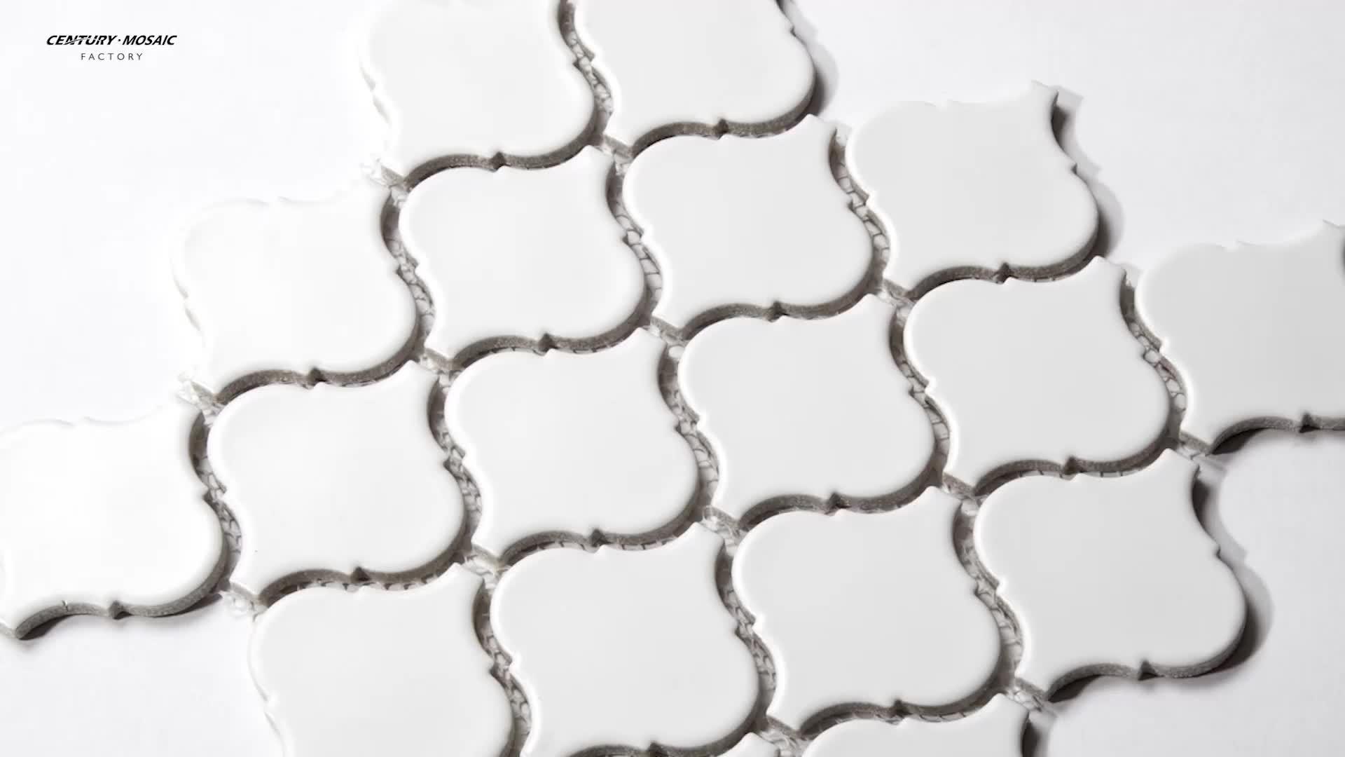 Arabesque Pattern Ceramic Mosaic Tiles For Wall Using