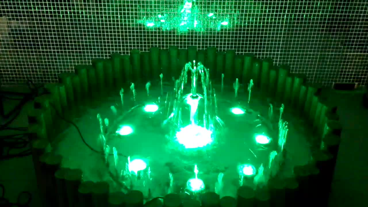 Home decoration indoor small led light music dancing water fountain