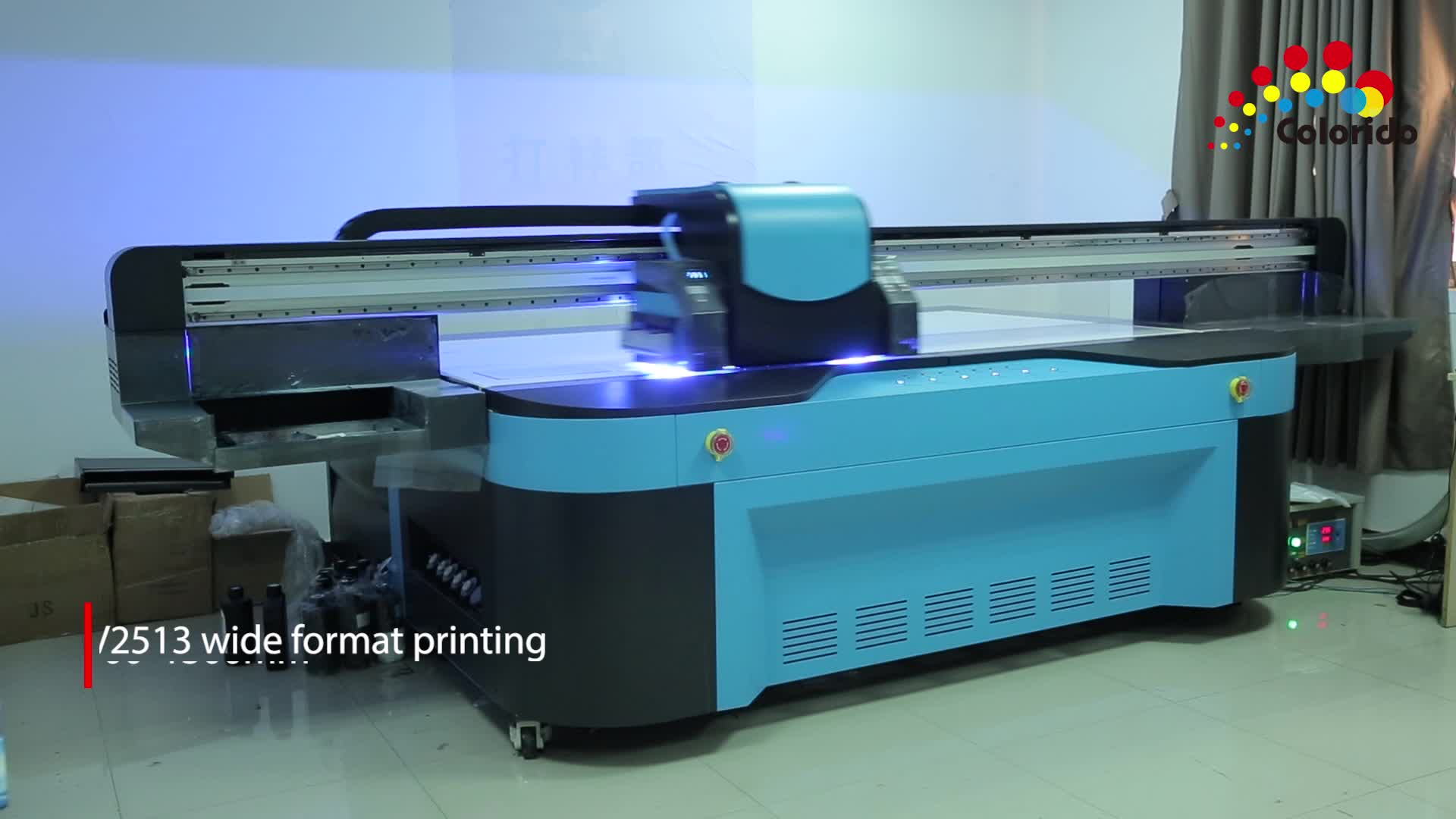 Max Printing Size 2500*1300mm Digital Printing Machine Led UV Flatbed Printer