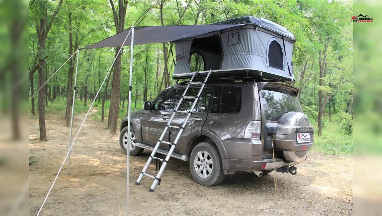 4x4 newest design fiberglass hard shell roof top tent for. Black Bedroom Furniture Sets. Home Design Ideas