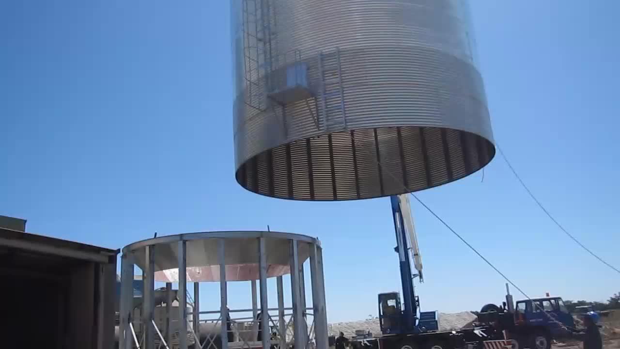 Overseas service 5000T capacity wheat steel grain storage silo for sale