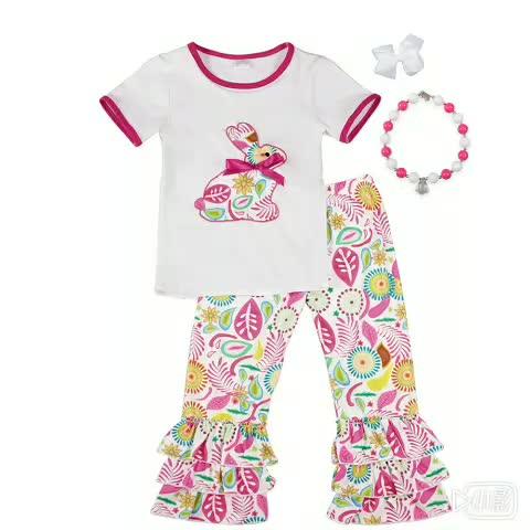 2018 новый дизайн новорожденных девочек рябить 4th июля комплекты одежды
