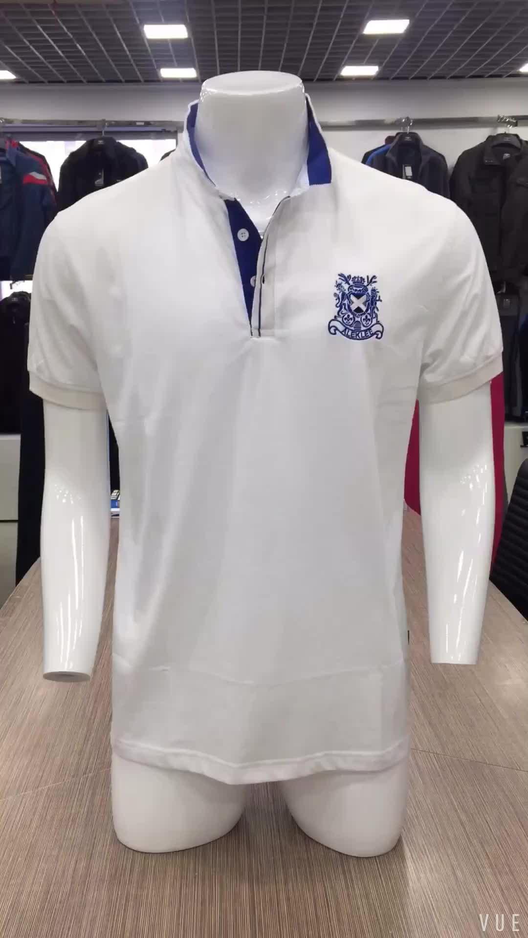 A buon mercato formale in bianco tradizionale turco uomini vestiti di polo della maglietta degli uomini di disegno del collare cinese lauren tinta unita in bianco t-shirt per uomini