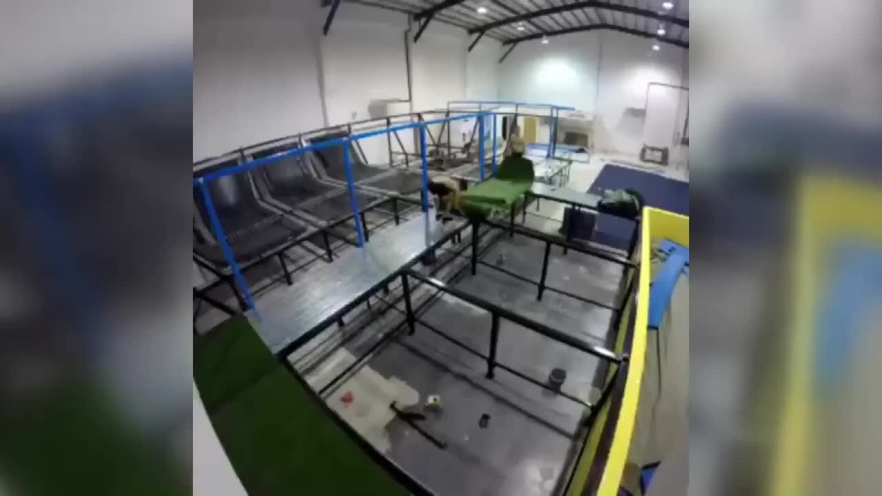 Manufacturing indoor big commercial trampoline for kids and adults