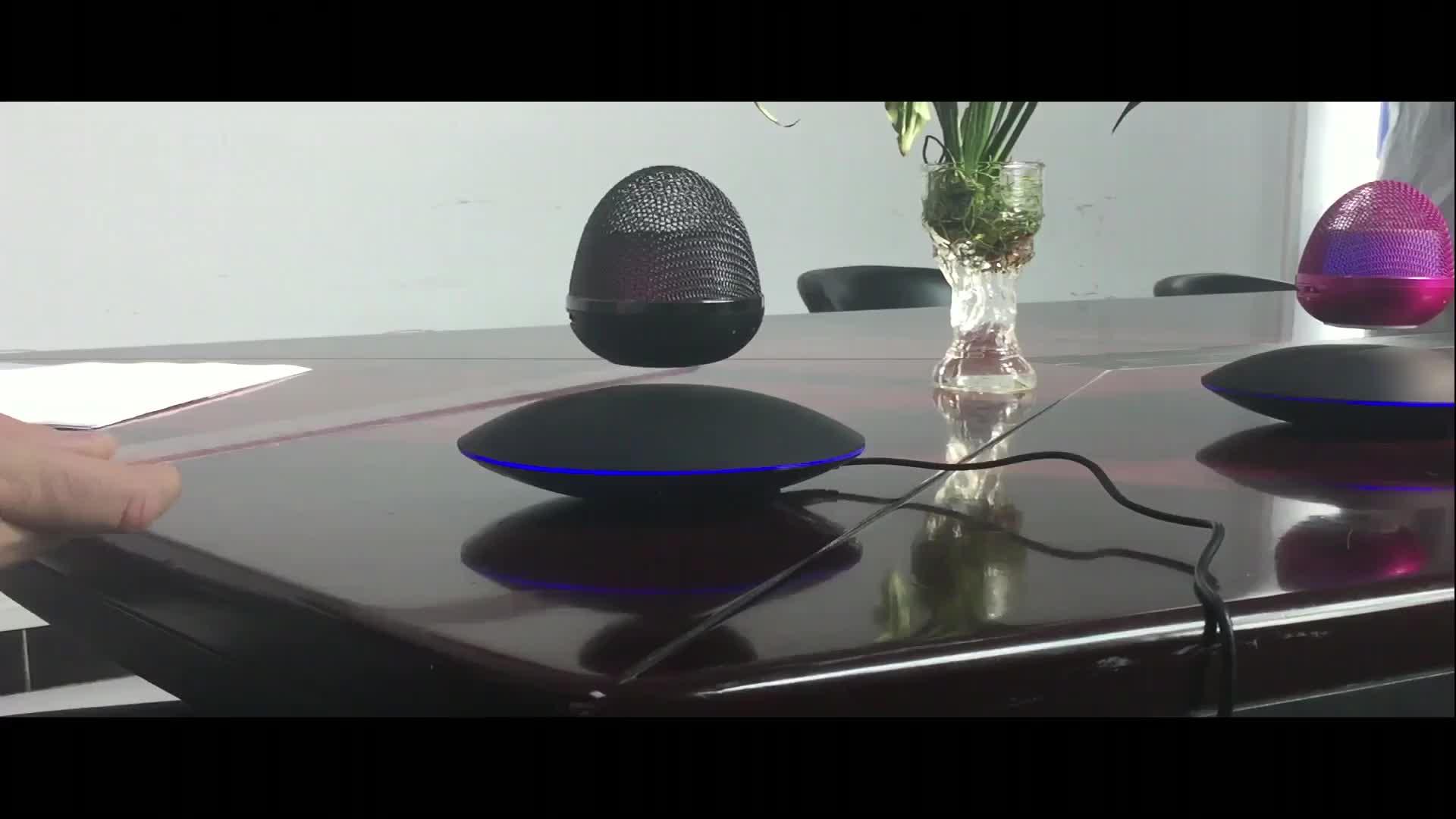 Outdoor Led Portable Bluetooth Speaker levitating