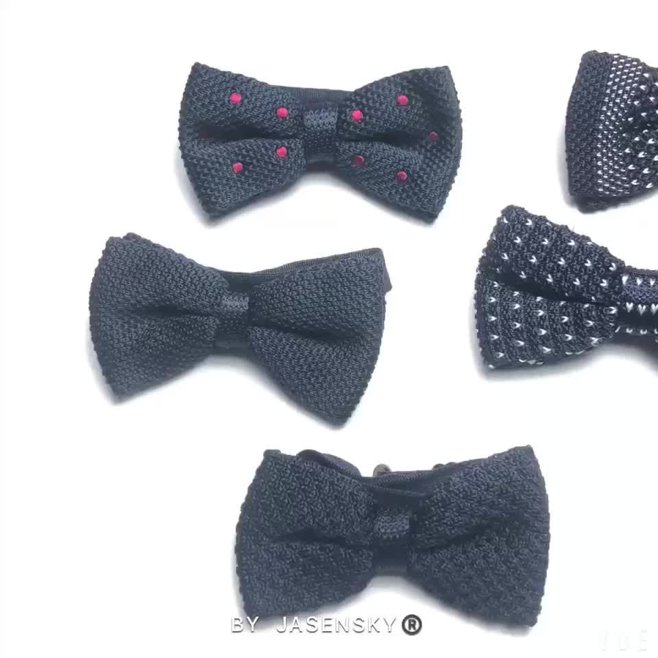 Best Quality Stripe Knitted Bow Ties Label - Buy Stripe Knitted Bow ...