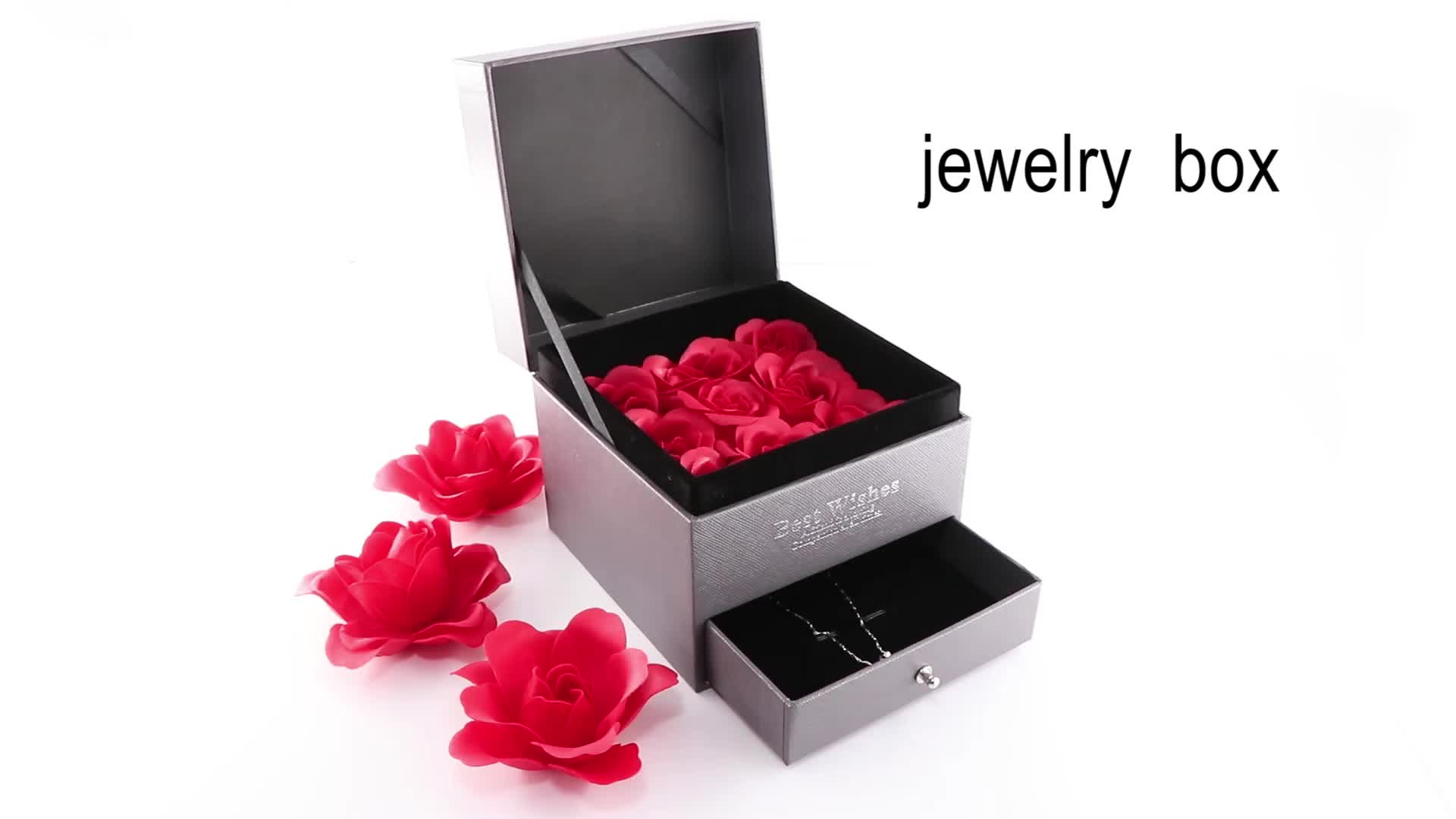 Luxury gift craft wholesale cardboard paper jewelry packaging box flower boxes with drawer