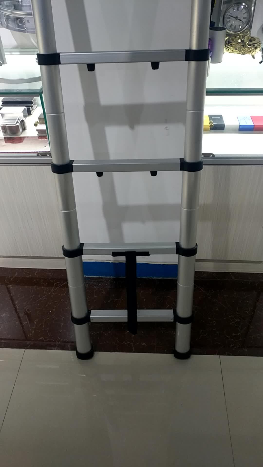 पोर्टेबल और foldable एल्यूमीनियम दूरबीन सीढ़ी 3.8 m (12'5 फुट) EN131 प्रमाणित