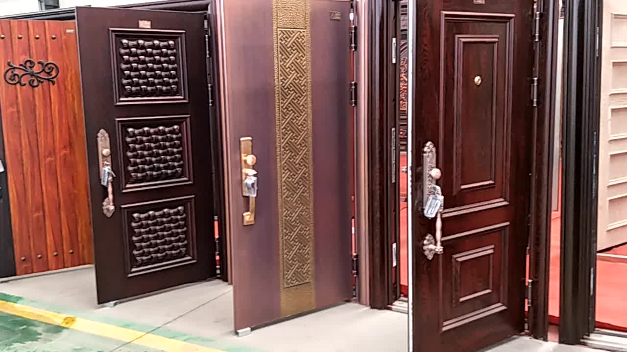 Superior Fancy Turkey Armored Door Price Safety Steel Wood Door Design
