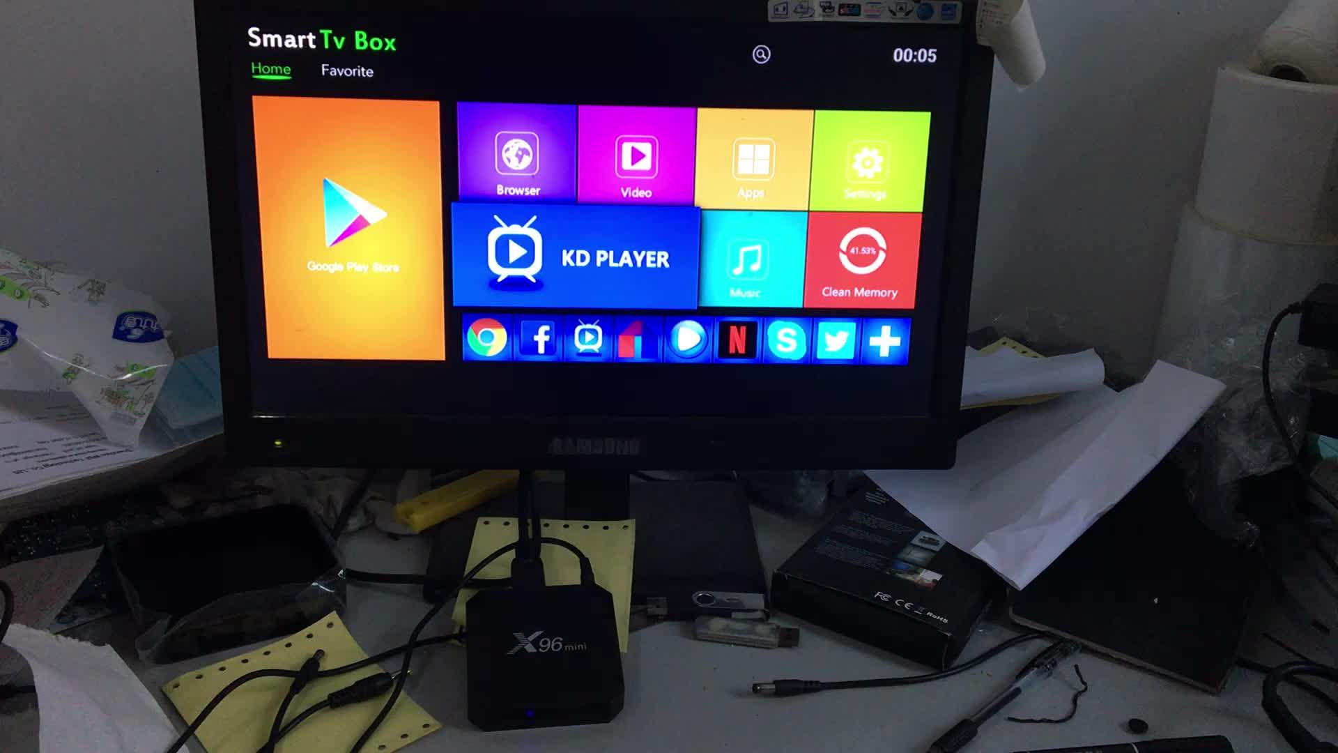 best selling kodi 17.6 amlogic s905w android 7.1 x96 mini 2gb tv box