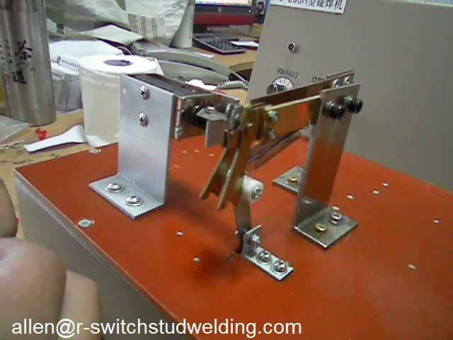 butt welding machine for neon lamp light emitting diodes and resistance