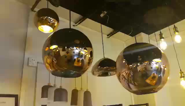 UL Approval New Glass Pendant Lamp, All Copper Glass Hanging Light for Hotel