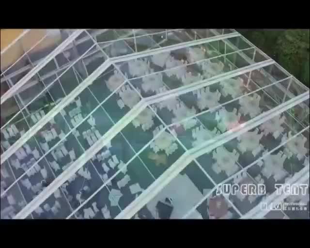 Carpa de boda transparente de techo de lujo para 200 personas