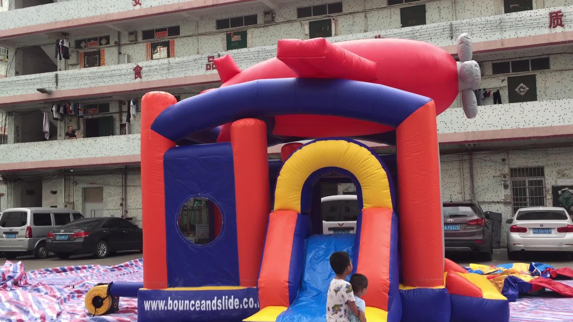 Inflatable bouncer plane /plane shape inflatable bouncer/customized plane bouncer house for sale