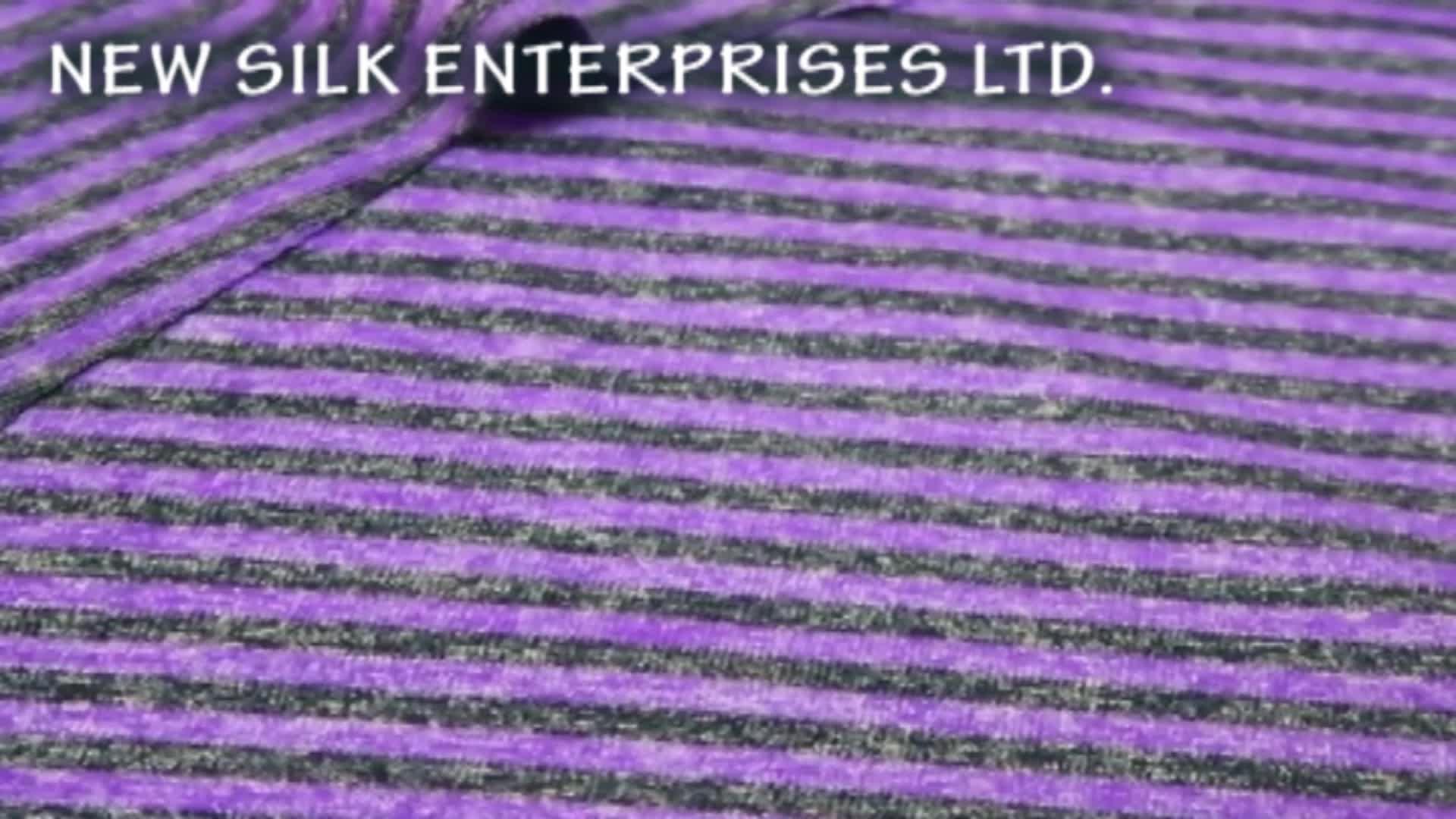 Yarn dyed blend microfiber stripe single jersey shiny polyamide spandex knit polyester nylon fabric
