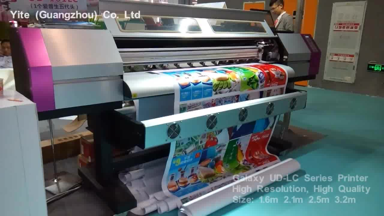 1.6m 1.8m 3.2m 1440dpi Galaxy flex banner plotter large format eco solvent printer with dx5 print head