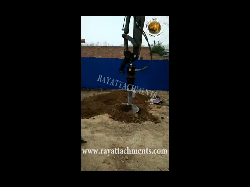 Máquina de perfuração do solo do eixo helicoidal da construção da máquina escavadora para a água subterrânea