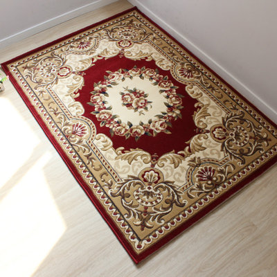 Pastoral style boutique Jianhua large carpet floor mats living room coffee table, sofa bed bedroom carpet entrance