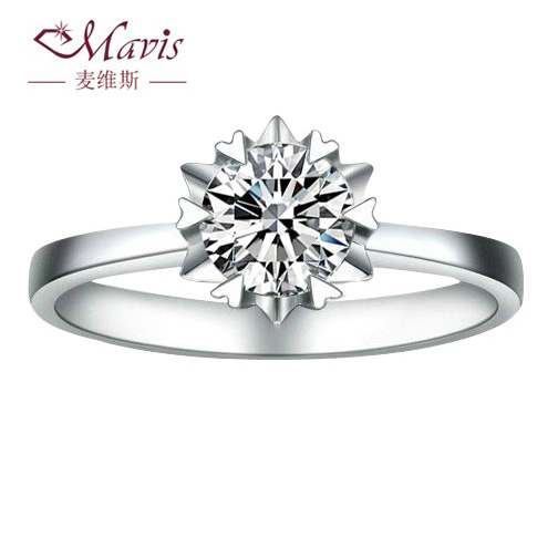 Maiweisi authentic natural counter South Africa PT950 platinum diamond wedding ring diamond ring, female rings