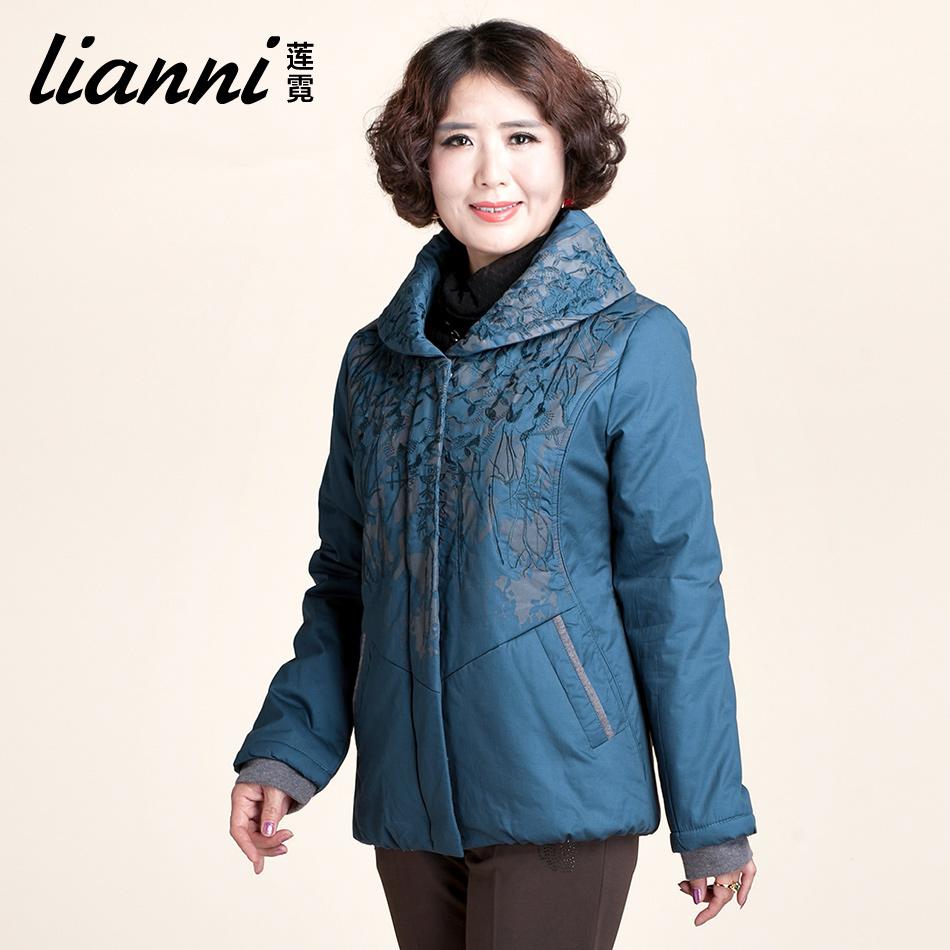 莲霓 2013冬装新款 中老年女装棉衣妈妈装上衣中年女棉服外套