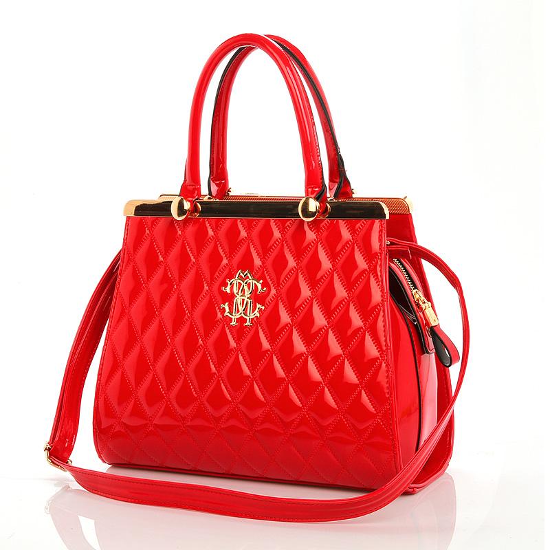 逸欣阁 特价包邮 2013年韩版时尚红色女包新品包包手提包新娘包