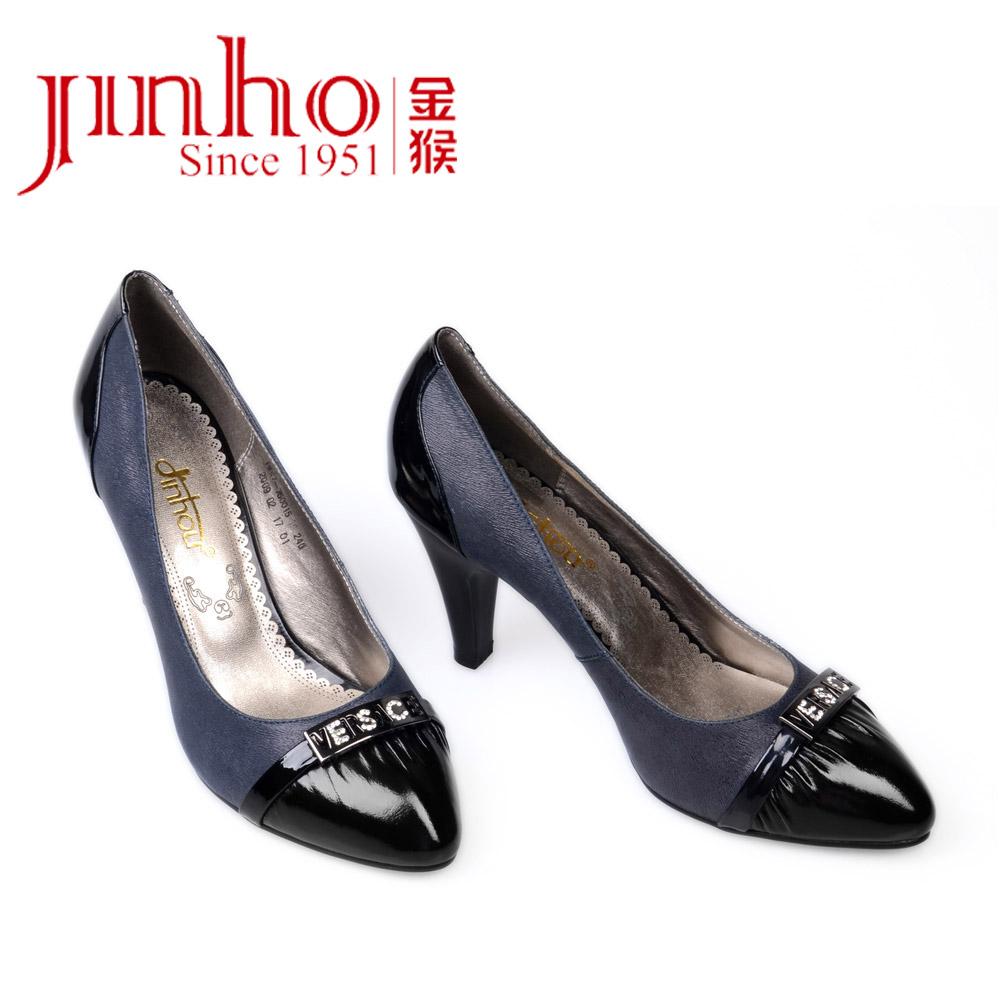 3: 奥康旗下美丽佳人2014新款女鞋浅口低跟甜美鞋时尚尖头格子女单鞋