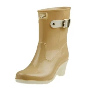 Genuine binary Spring TH-215 waterproof single female models plus cotton winter rain boots-in-tube high-heeled boots warm