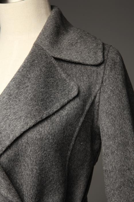 женское пальто 12,187 посмотрел и посмотрел высокое качество тонкий двубортные пальто классический @ Средней длины (65 см <длины одежды ≤ 80 см) Длинный рукав