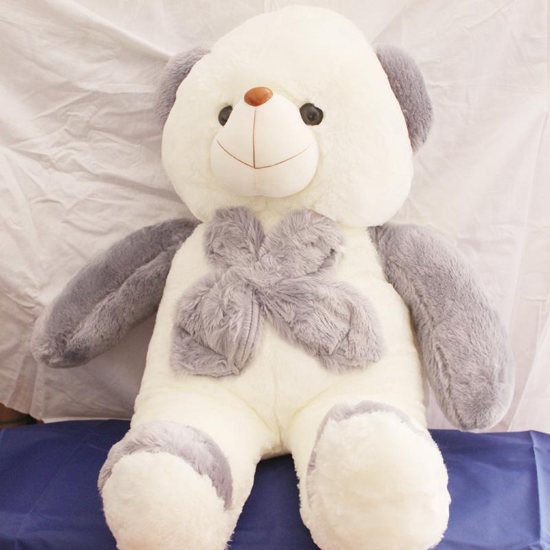 特价布娃娃 可爱大号紫色领结抱抱熊 泰迪熊毛绒玩具公仔 礼物
