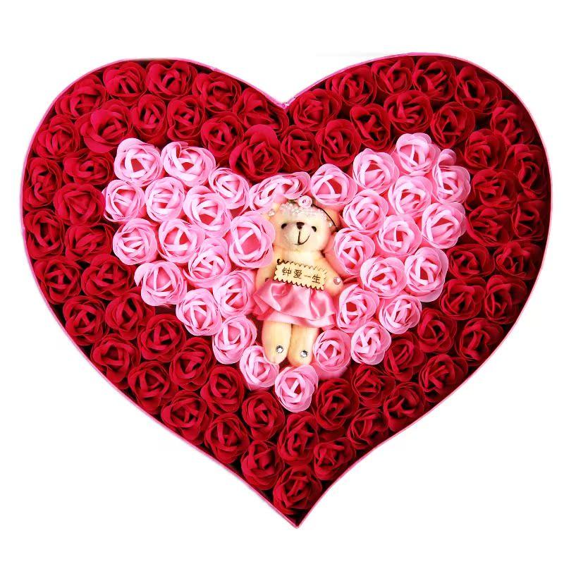 Букет из конфет и игрушек Цветок мыла никогда не вянут страны пакет электронной почты творческая подруга подарки день Святого Валентина подарок