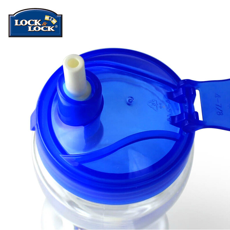 Child Lock & Lock genuine sports portable straw HPP708T 350ml glass bottle cup son