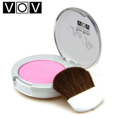 Korea VOV rouge 3.8g of pure warm color optional stereoscopic trimming delicate blush sparkling genuine