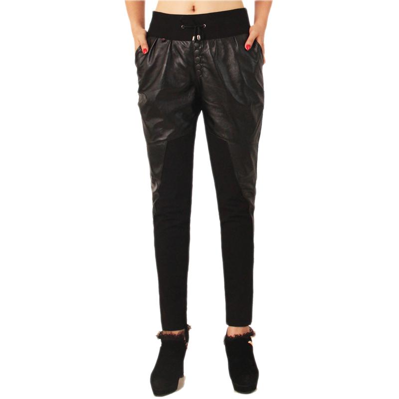 Женские брюки 13新款绵羊皮真皮长裤羊皮哈伦裤羊皮女裤真皮女长裤羊皮小脚裤
