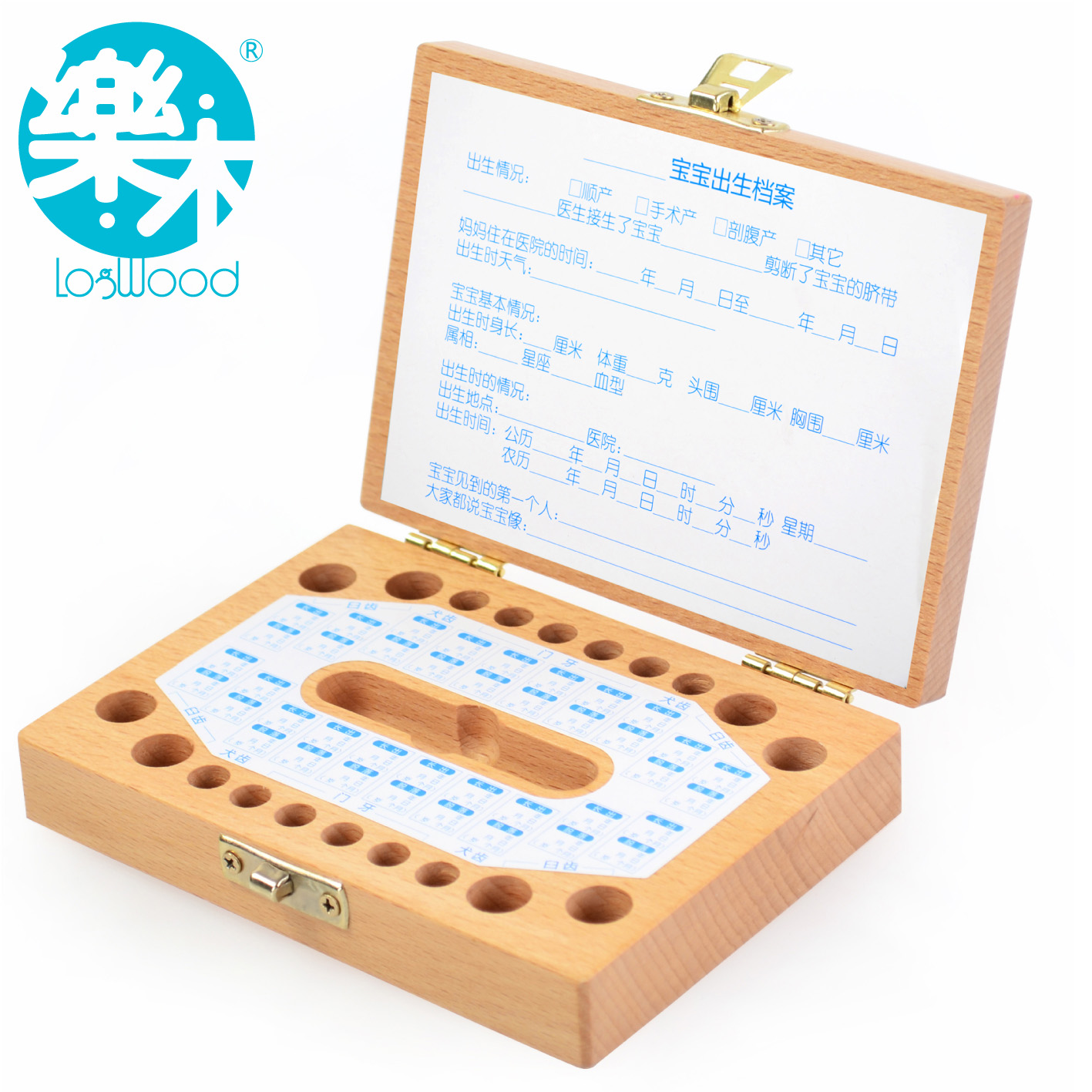 International Children ' s Day gift wooden Baby Keepsake wooden lanugo deciduous save box baby personalized gifts