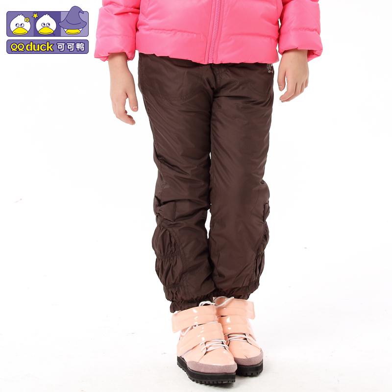 детские штаны Qq duck 78063 299 2012 Qq duck / cocoa duck Смешанная ткань Для отдыха Кожаный пояс на талии