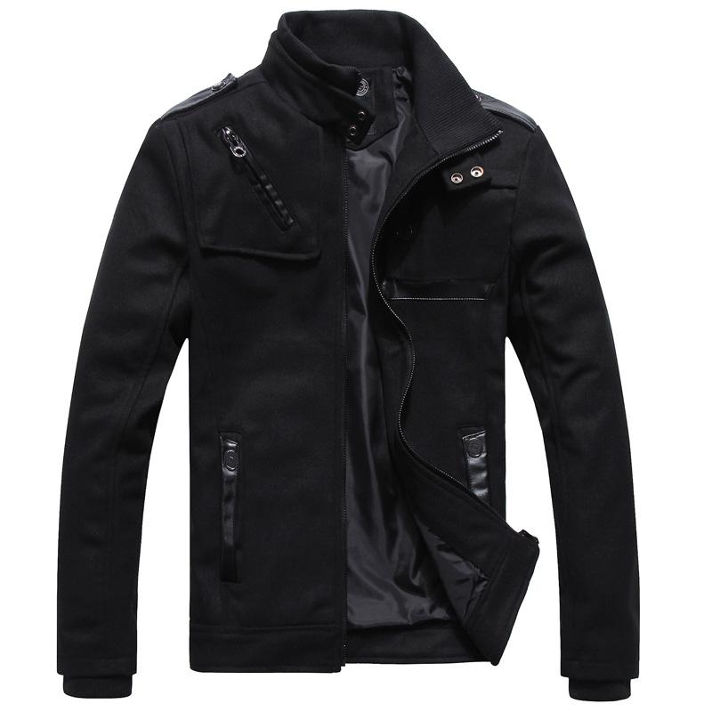 Пальто мужское Other 9951 Шерстяная ткань для пальто Без воротника со стойкой