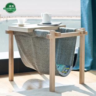 及木家具茶几角几移动沙发边几实木小茶几 CJ009