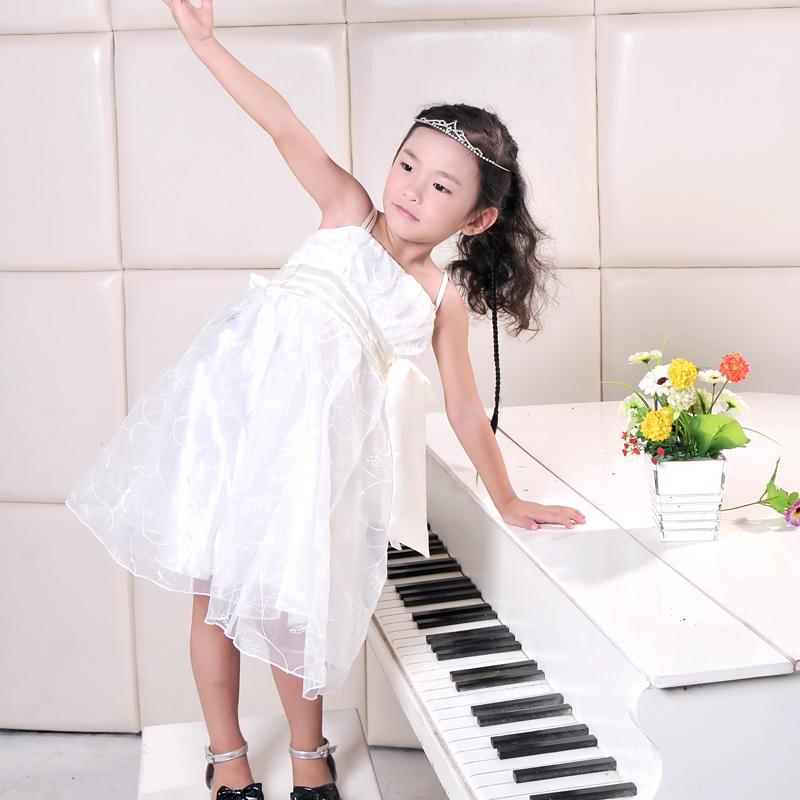 2013韩版 女童夏装 蝴蝶结连衣裙 小花童礼服/吊带裙/公主裙 裙子