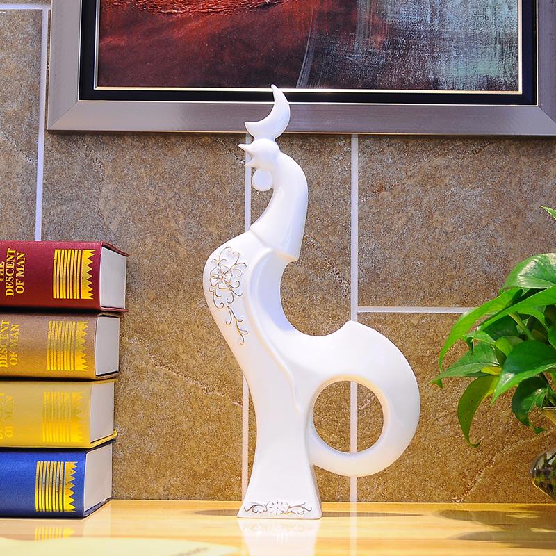 陶瓷创意摆件家居装饰品工艺品摆设欧式风水现代简约室内客厅商务