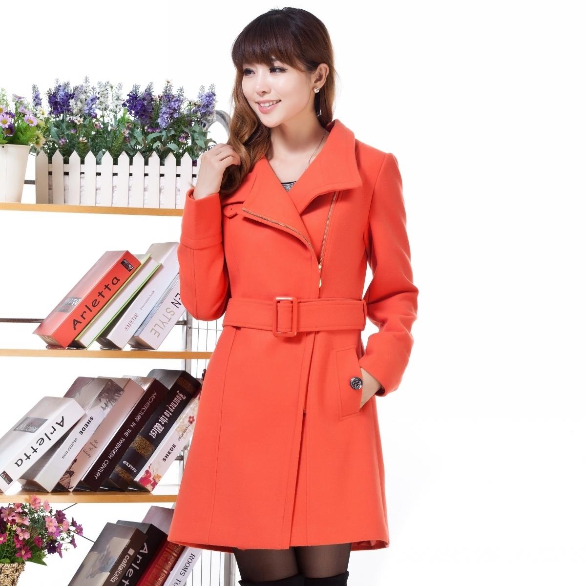 женское пальто 6868 2013 Зима 2013 Длинная модель (80 см<длина изделия ≤ 100 см) Длинный рукав Классический рукав